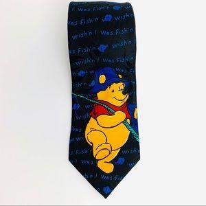 Winnie the Pooh Wish'n I Was Fish'n Novelty Tie